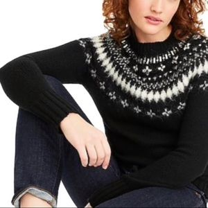 J. Crew Fair Isle Embellished Jeweled Sweater
